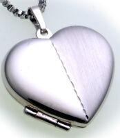 Damen Medaillon Silber 925 Herz mit Gravuren Anhänger teilmatt Sterlingsilber