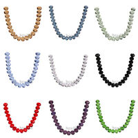 10Pcs 16mm Crystal Faceted Glass Loose Beads Spacer Rondelle for Jewelry Making