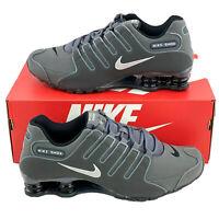 Nike Shox NZ Iron Dark Grey Men's Sneakers Running Shoes Gray White 378341 059