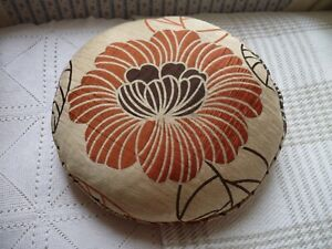 VERY PRETTY VINTAGE ROUND FEATHER FILLED CUSHION/PILLOW