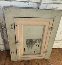 Antique Vintage Wooden Recessed Mount Medicine Cabinet Cupboard