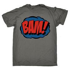 Comic Bam T-SHIRT Tee Superhero Comics Geek Pop Art Action Gift birthday funny