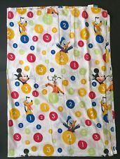 Disney 1 2 3 Mickey Mouse Pluto Donald Duck Flat Twin Sheet Cutter Fabric Crafts