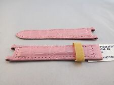 New Authentic Cartier Oem Pasha strap Matte Pink Alligator band,15.5/14 16mm