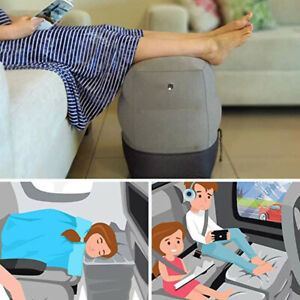 Inflatable Travel Footstool Children's Aircraft Bed Adjustable Height Leg Pillow
