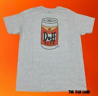 New The Simpsons Duff Beer Can Classic Mens Vintage T-Shirt