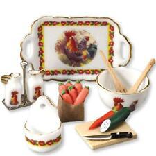 DOLLHOUSE Rooster Kitchen Set Reutter 1.499/8 Cruets Miniature