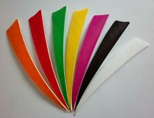 "600) Archery 4"" SHIELD TURKEY FEATHERS Arrow fletching, 7 colors to choose"