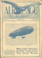 NOV 19 1917 AERIAL AGE WEEKLY early aviation magazine BRITISH NAVAL AIRSHIP