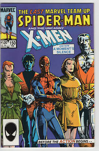 MARVEL TEAM-UP - #150 - 8.5 - WP - Spider-Man - X-Men - Dbl Size - Last issue