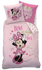 Kinder Bettwäsche Minnie Mouse Bows Style 80x80 +135x200 BIBER