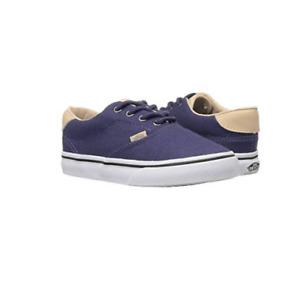 Vans Boys Era 59 (Veggie Tan) Crown Blue/Tan Low Top First Walker Shoes US 10