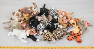 Lot of 18 TY Beanie Babies with Tags Cats Big & Small etc. tthc