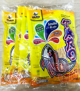 6x25g Taro Fish Snack Spicy FLAVORED Dietary Food Snack Delicious Thai Healthy