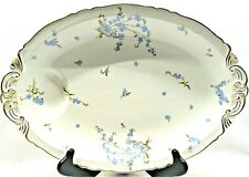 "Haviland & Co Montmery Forget Me Not Oval Platter 16"" French Limoges"