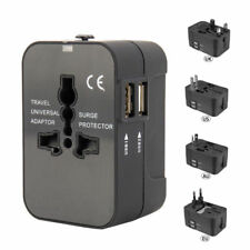 2x Universal Travel Adapter International UK USA EU to AU Australian Power Plug