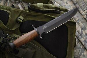 Russian hunting knife DV-2 Black with sheath Super steel U-8 kizlyar