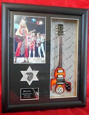Slade Superyob Replica Miniature Framed Guitar & Plectrum
