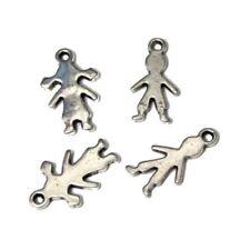 4 Breloques _ FILLES et GARCONS 18mm _ Perles charms création bijoux brac _ B077