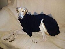 "dog dinosaur jumper fleece coat whippet greyhound lurcher 22"" black & grey"
