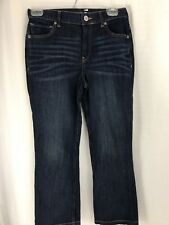 Express Jeans Bell Crop High Rise Womens Size 4 Dark Wash NWT