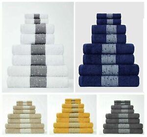 2pk Bainsford Egyptian Cotton Super Soft Absorbent Hand Bath Towels Bath Sheets