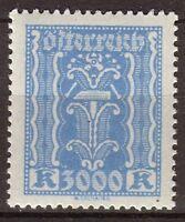 Autriche 1923 Industrie 3000k bleu. N**. P295 P295