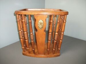 Vintage Tell City Chair Co Magazine Rack - #48 Andover 3175 - Solid Wood  k lw