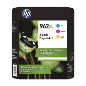 NEW HP 3JB36BN 962XL 3-Pack High Yield Tri-Color Ink Cartridge Exp MAY/2022