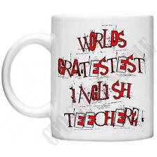 Funny Mugs Teacher Mugs Gratestest Inglish Teecher Gifts For Teachers Mug Gift