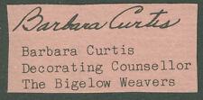 BARBARA CURTIS - SIGNATURE(S)
