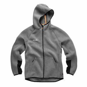 Scruffs Trade Air-Layer Hoodie Charcoal Men's Sweatshirt Hooded Jumper Workwear