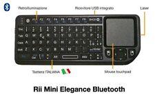Rii Mini Elegance Bluetooth - Tastiera retroilluminata per Smartphone, Tablet PC