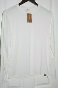 patagonia men's long sleeve capilene cool daily shirt white 50+UPF XL