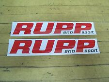 NOS Vintage Original Rupp Sno Sport Snowmobile Stickers