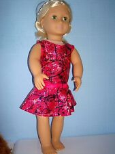"""Handmade Justaucorps & jupe ideal for AMERICAN GIRL 18"""" Fashion poupée rose serpent"""