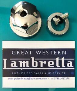Innocenti Lambretta Model D & Ld Chrome Rear Hub Nut, Washer & left Hand Screw