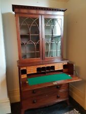 Exceptional Regency mahogany secretaire bookcase c.1810-1820