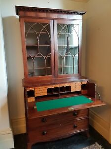 English Regency mahogany secretaire bookcase c.1810-1820