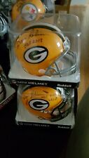 GREEN BAY PACKERS MINI HELMET SIGNED BY DAVE ROBINSON HOF 2013