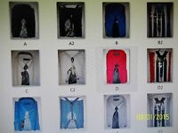 Men's Dress Shirt and Tie w/Suspenders - French Cuffs or Regular Cuffs