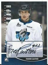 2012-13 ITG Heroes and prospects FREDERIK GAUTHIER #A-FG Autograph