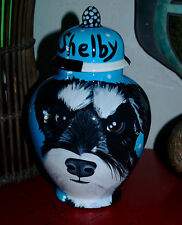 Custom memorial Pet DOG cremation urn Schnauzer small breed teacup dog pets cats