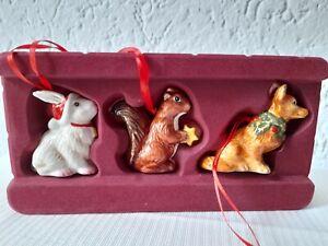 Villeroy & Boch Nostalgic Ornaments Waldtiere Set 3tlg