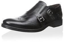 Bacco Bucci Men's Bartalli Monkstrap Black Leather Sz 8 Italy