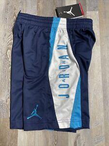 NWT Nike Air Jordan Dri-Fit Toddler Boys Shorts SZ 7 Navy Blue/White New