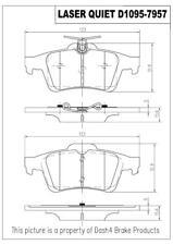 Disc Brake Pad Set-Laser Quiet Metallic Pads Rear Pronto LMD1095