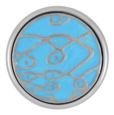 Standard Size Ginger Snap Painted-Light Blue Sea Buy 2, Get 3Rd $6.95 Snap Free