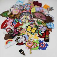 Random Patches 30pcs Diy Girls Kids Iron On Clothing Applique Clothes Sticker
