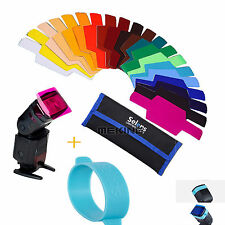 20pcs FLash Speedlite Color Gels Filters kit  Fr Canon Nikon Godox Yongnuo Sony